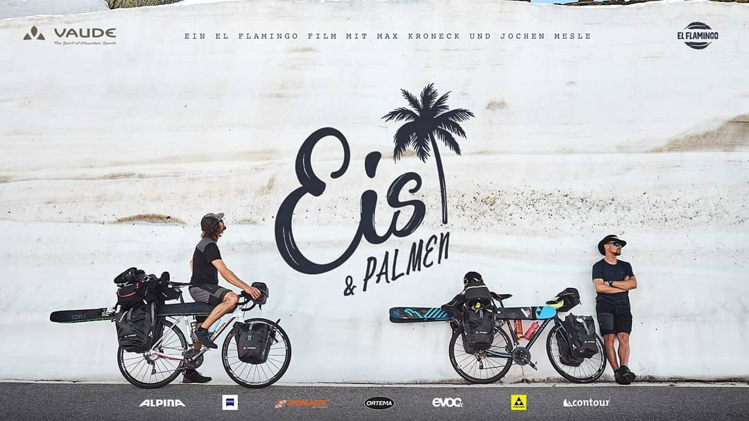 """Ice & Palms"", traversée des alpes en ski et en bikepacking."